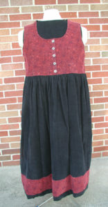 Red & Black Corduroy Dress