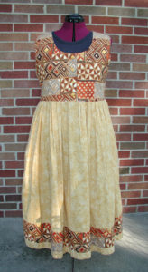 Tribal Yellow Cotton Dress