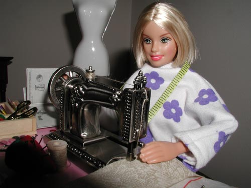 Barbie is Sewing